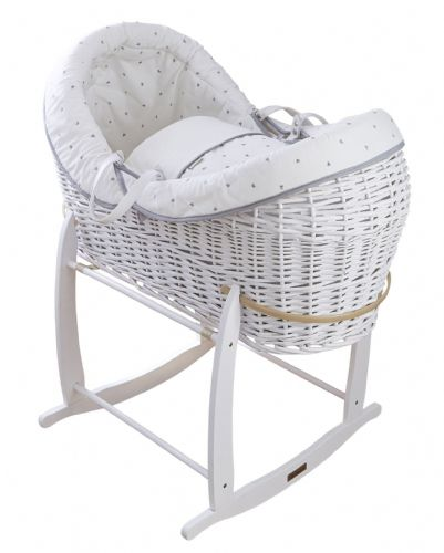 Wicker Wrap Over Pod - White Lullaby Hearts